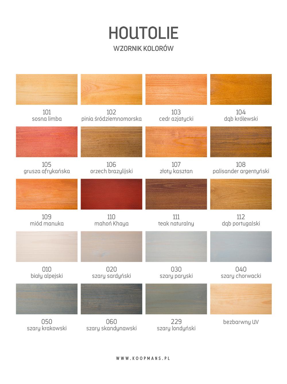 houtolie kolory drewna